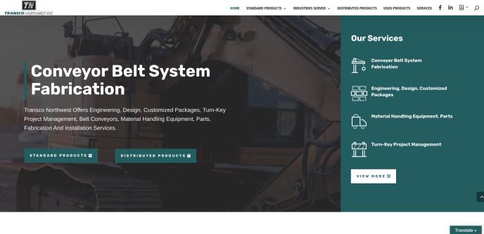 Transco Northwest - Leading Fabricator of Conveyor Belt System